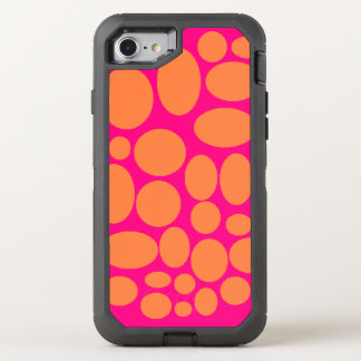 Pink and orange Otter box phone case cover