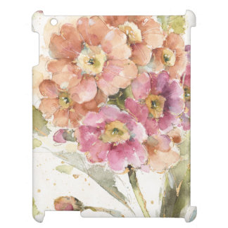 Pink and Orange Primrose iPad Cases