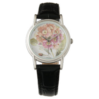 Pink and Orange Primrose Wrist Watches