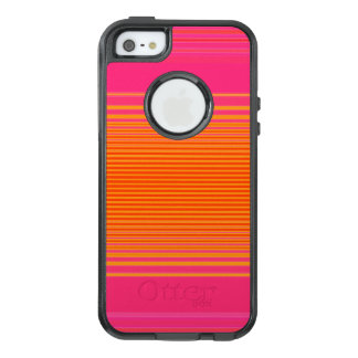 Pink and Orange Striped Pattern OtterBox iPhone 5/5s/SE Case
