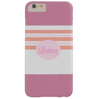 Pink and Orange Striped Phone Case