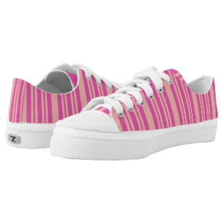 Pink and Orange Striped Shoes, Summer Low Tops