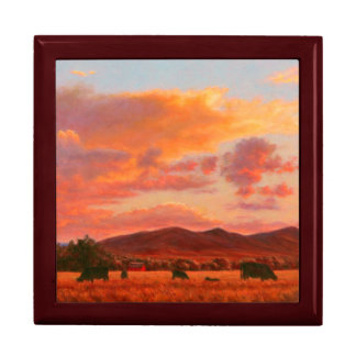 Pink and Orange Sunset Keepsake Box