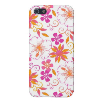 Pink and Orange Tropical Flower Pern iPhone 5/5S Cover