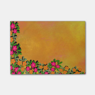 Pink and Orange Wildflowers Post-it® Notes