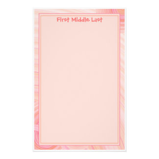 Pink and Peach Pastel Spirals Customised Stationery