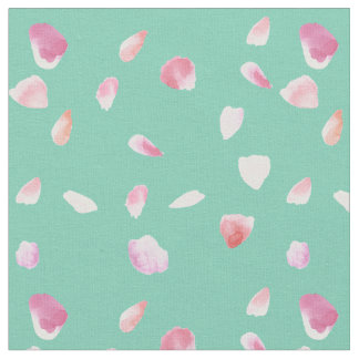 Pink and Peach Rose Petals Fabric