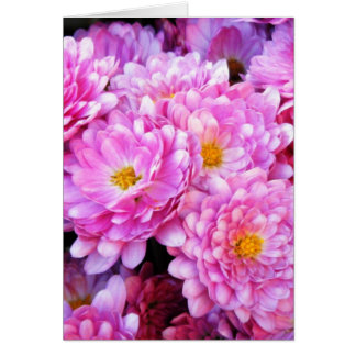 """Pink and Pretty Mums"" Card"