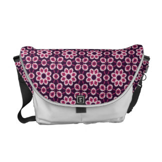 Pink And Purple Abstract Flower Pattern Courier Bag