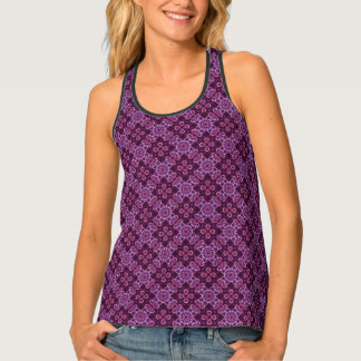 Pink And Purple Abstract Pattern Tank Top