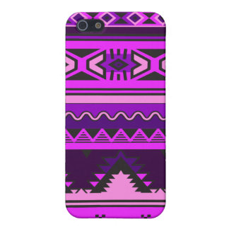 Pink and Purple Aztec Pattern iPhone Cover