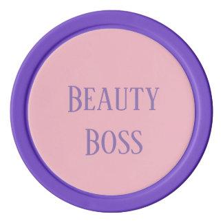 Pink and Purple Beauty Boss Poker Chip