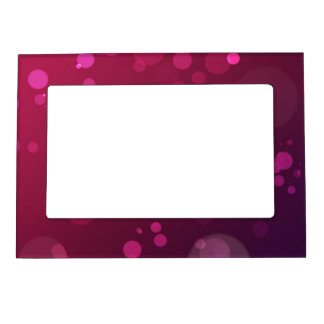 Pink and Purple Bubbles Magnetic Picture Frame