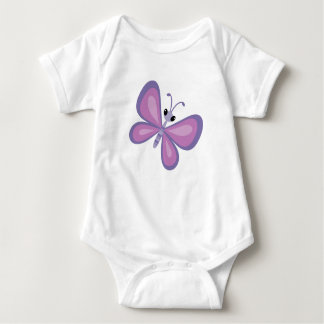 Pink and Purple Butterfly Baby Bodysuit