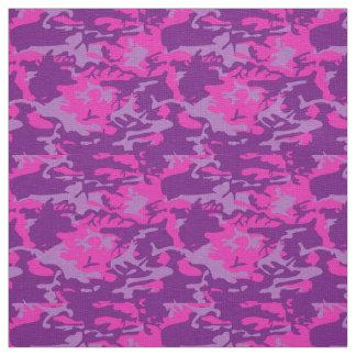 Pink and Purple Camo Fabric
