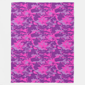 Pink and Purple Camo Fleece Blanket
