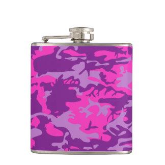 Pink and Purple Camo Hip Flask