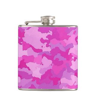 Pink and Purple Camo Hip Flask