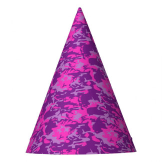 Pink and Purple Camo Party Hat