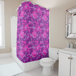 Pink and Purple Camo Shower Curtain