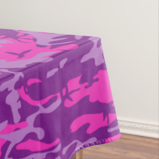 Pink and Purple Camo Tablecloth