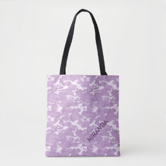 Pink and Purple Camouflage Tote with Name
