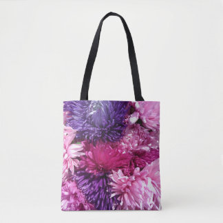 Pink And Purple Chrysanthemums Tote Bag