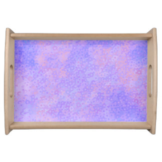 Pink and Purple Circles Serving Tray