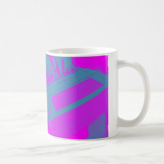 Pink and Purple Court Reporting Coffee Cup Basic White Mug