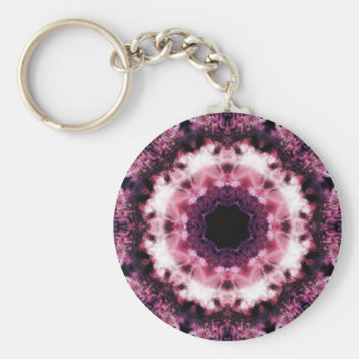 Pink and Purple Crystal Mandala Keychain