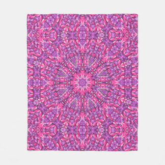Pink And Purple Custom Fleece Blanket 3 sizes