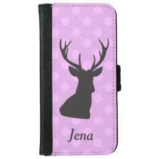 Pink and Purple Deer Hunting Wallet Phone Case iPhone 6 Wallet Case