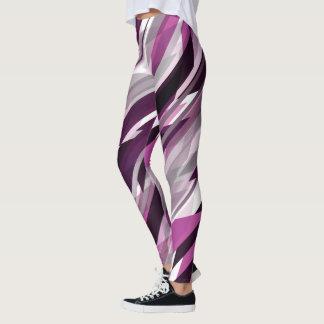 Pink and Purple Diagonal Slashes Leggings