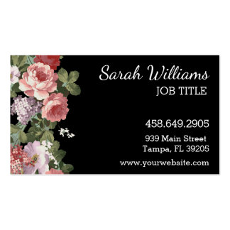 Pink and Purple Floral Business Card