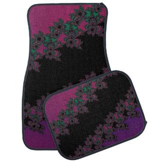 Pink and Purple Floral Fractal Car Mats Floor Mat