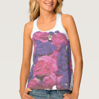 Pink and Purple Floral Singlet