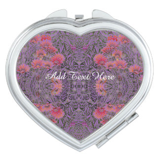 Pink And Purple Floral Vanity Mirrors