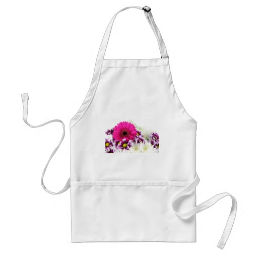 Pink and Purple Flower Bouquet Aprons