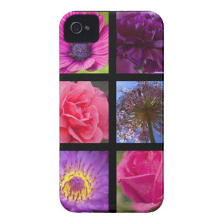 Pink and Purple Flowers iPhone 4 Case-Mate Cases