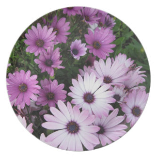 Pink and Purple Flowers Plate