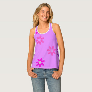 Pink and Purple flowers Tank Top
