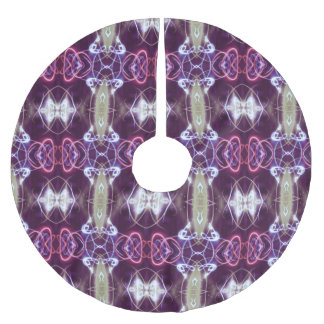 Pink And Purple Geometric Abstract Pattern Brushed Polyester Tree Skirt