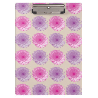 Pink and purple gerber floral pattern clipboard