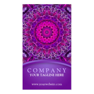 Pink and Purple Glowing mandala - purple design Pack Of Standard Business Cards