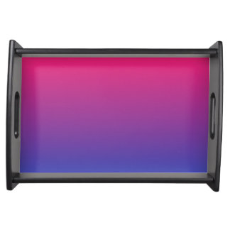 Pink and Purple Gradient Colors Serving Tray