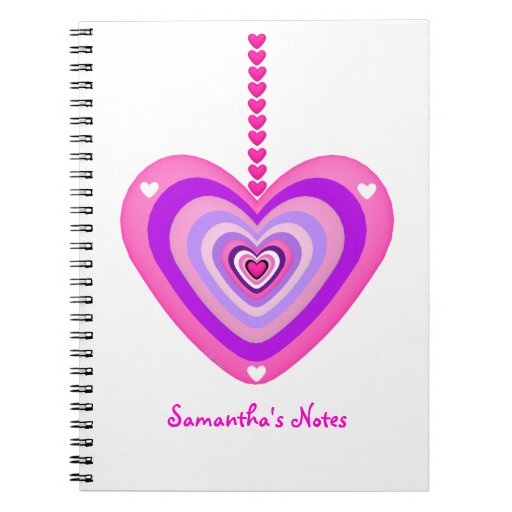Pink and Purple Heart Layers Notebooks