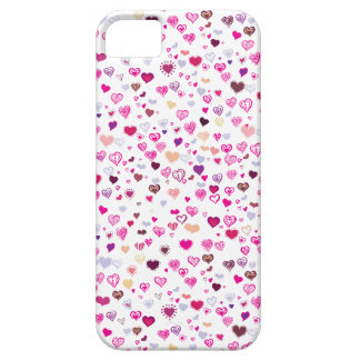 Pink and Purple Hearts iPhone 5 Case-Mate Barely Barely There iPhone 5 Case