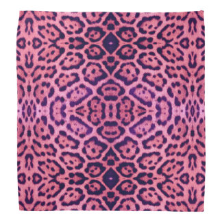 Pink and Purple Jaguar Fur Bandana