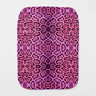 Pink and Purple Jaguar Fur Burp Cloth