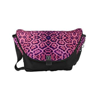 Pink and Purple Jaguar Fur Commuter Bags